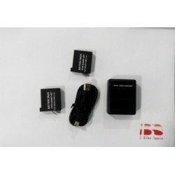 Pack 2x Bateria H4 + Cargador Dual